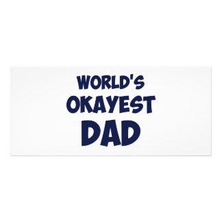World's Okayest Dad Customized Rack Card