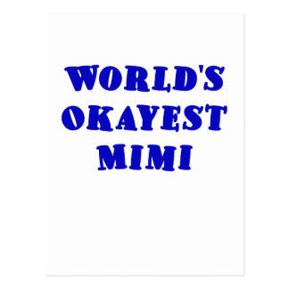 Worlds Okayest Mimi Postcard