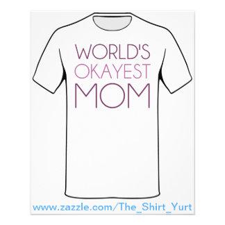 World's Okayest Mom Flyers
