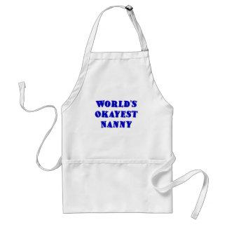 Worlds Okayest Nanny Standard Apron