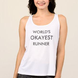World's Okayest Runner Fitness Tank