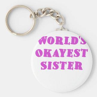 Worlds Okayest Sister Key Ring