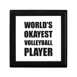 World's Okayest Volleyball Player Small Square Gift Box