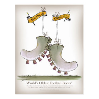 World's Oldest Football Boots Postcard