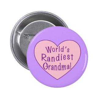 World's Randiest Grandma 6 Cm Round Badge
