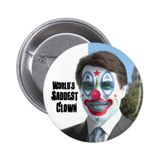 World's Saddest Clown, No to Perry in '12 6 Cm Round Badge