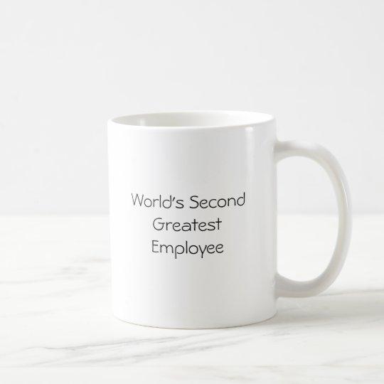 World's Second Greatest Employee - Customised Coffee Mug