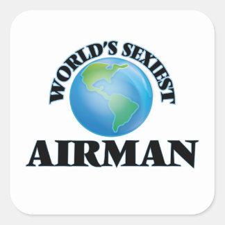 World's Sexiest Airman Square Sticker