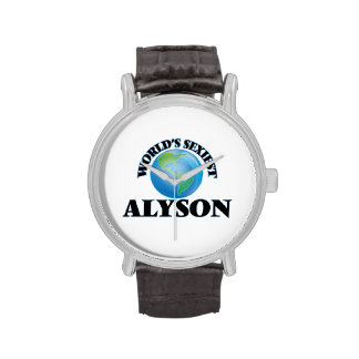 World's Sexiest Alyson Watches