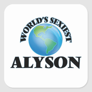 World's Sexiest Alyson Square Stickers