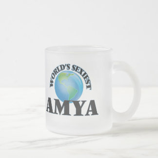 World's Sexiest Amya Frosted Glass Mug