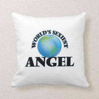 World's Sexiest Angel Throw Pillows