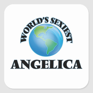 World's Sexiest Angelica Square Sticker
