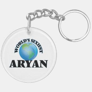 World's Sexiest Aryan Double-Sided Round Acrylic Keychain