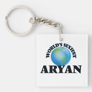 World's Sexiest Aryan Single-Sided Square Acrylic Keychain