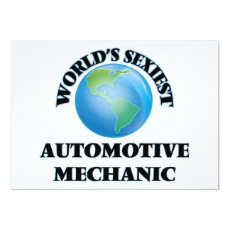 World's Sexiest Automotive Mechanic Personalized Announcement