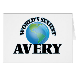 World's Sexiest Avery Greeting Cards