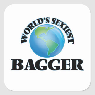 World's Sexiest Bagger Square Sticker