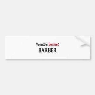 World's Sexiest Barber Bumper Sticker