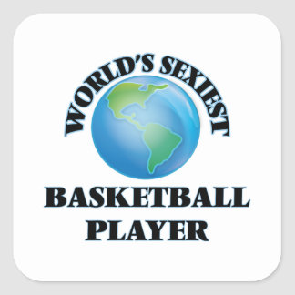 World's Sexiest Basketball Player Square Sticker