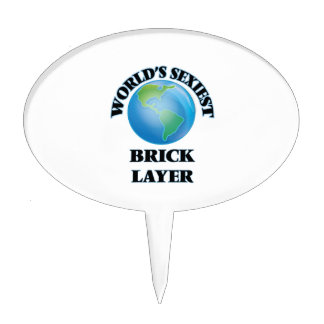 World's Sexiest Brick Layer Cake Topper