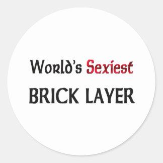 World's Sexiest Brick Layer Sticker