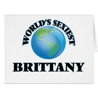 World's Sexiest Brittany Card