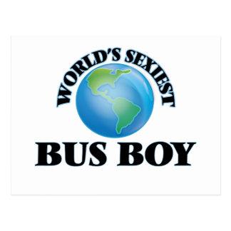 World's Sexiest Bus Boy Postcards