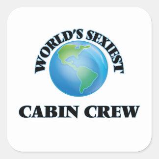 World's Sexiest Cabin Crew Square Sticker