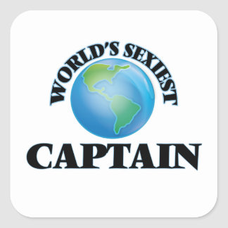 World's Sexiest Captain Square Sticker