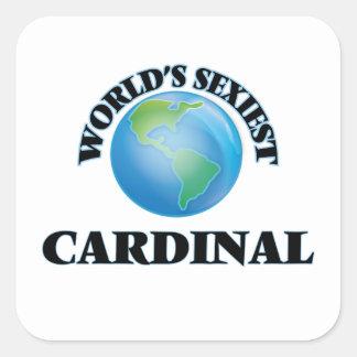 World's Sexiest Cardinal Square Sticker