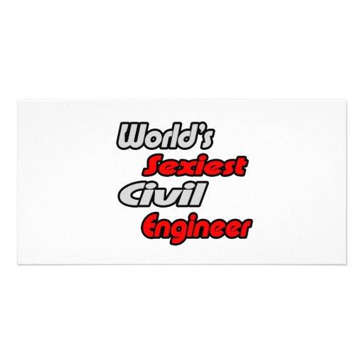 World's Sexiest Civil Engineer Custom Photo Card