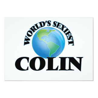 World's Sexiest Colin 13 Cm X 18 Cm Invitation Card
