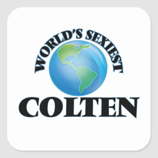 World's Sexiest Colten Square Sticker
