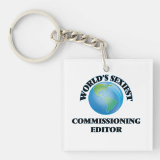 World's Sexiest Commissioning Editor Square Acrylic Key Chain