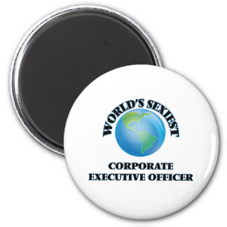 World's Sexiest Corporate Executive Officer 6 Cm Round Magnet