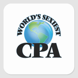 World's Sexiest Cpa Square Sticker