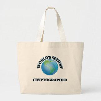 World's Sexiest Cryptographer Canvas Bag