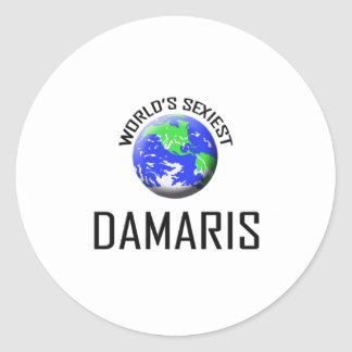World's Sexiest Damaris Round Stickers