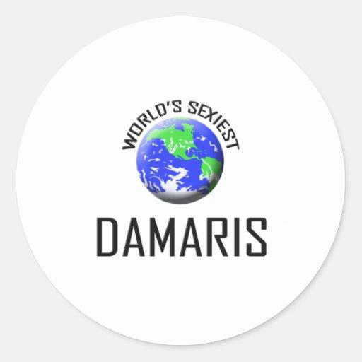 World's Sexiest Damaris Round Stickers