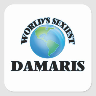 World's Sexiest Damaris Square Sticker