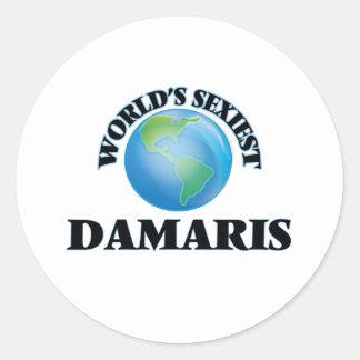 World's Sexiest Damaris Classic Round Sticker