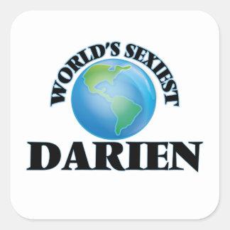 World's Sexiest Darien Square Sticker
