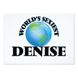 World's Sexiest Denise 13 Cm X 18 Cm Invitation Card