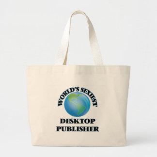 World's Sexiest Desktop Publisher Jumbo Tote Bag