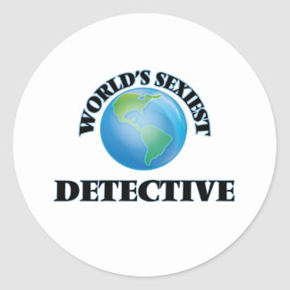 World's Sexiest Detective Round Sticker