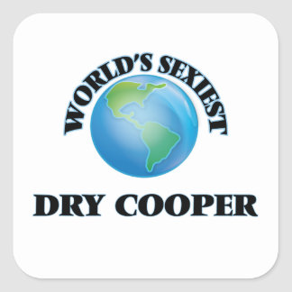 World's Sexiest Dry Cooper Square Stickers