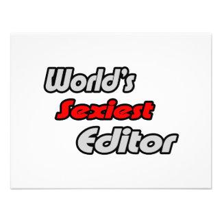 World's Sexiest Editor Invitations
