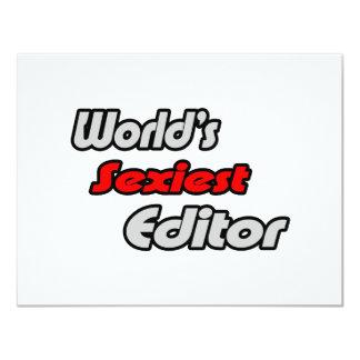 World's Sexiest Editor 11 Cm X 14 Cm Invitation Card