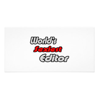 World's Sexiest Editor Picture Card